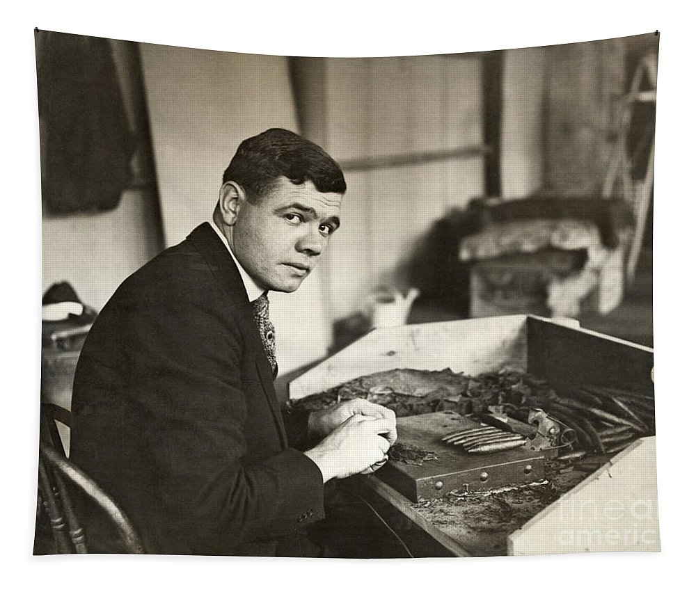 1919 Tapestry featuring the photograph George H. Ruth (1895-1948) by Granger