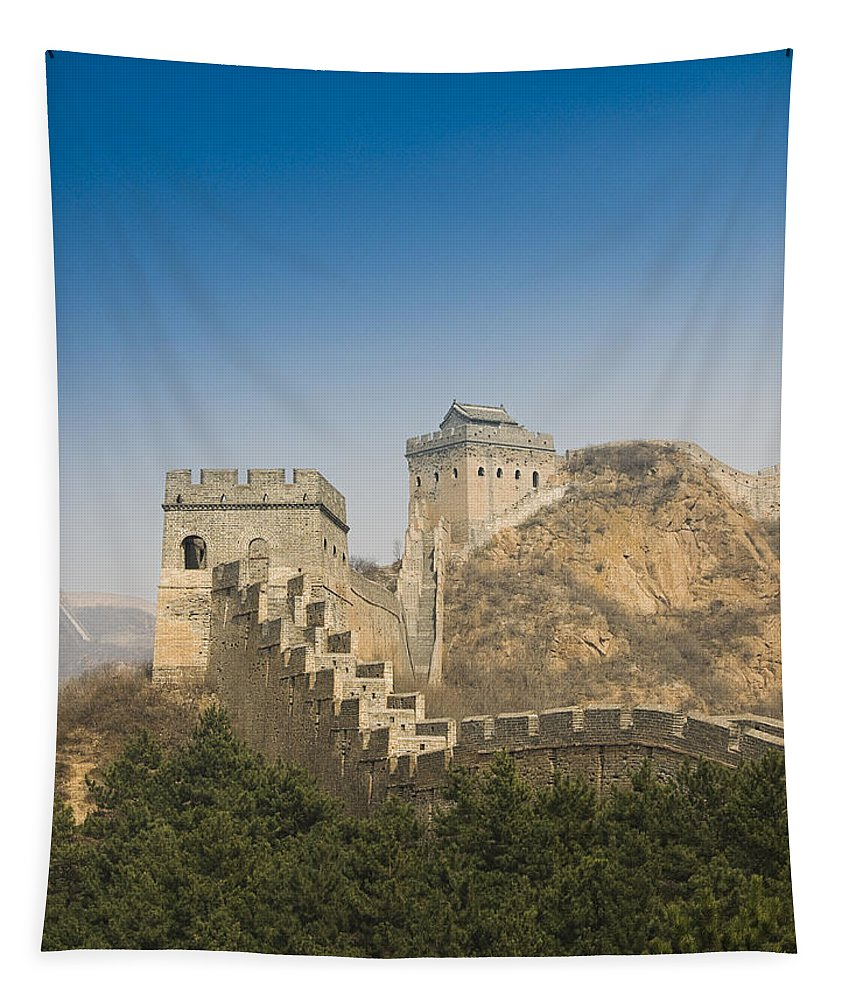 Ancient Tapestry featuring the photograph Great Wall Of China - Jinshanling by Gloria & Richard Maschmeyer - Printscapes