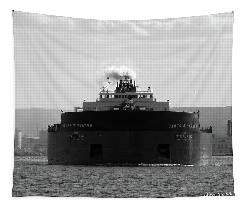Duluth Tapestry featuring the photograph James R. Barker by Alison Gimpel