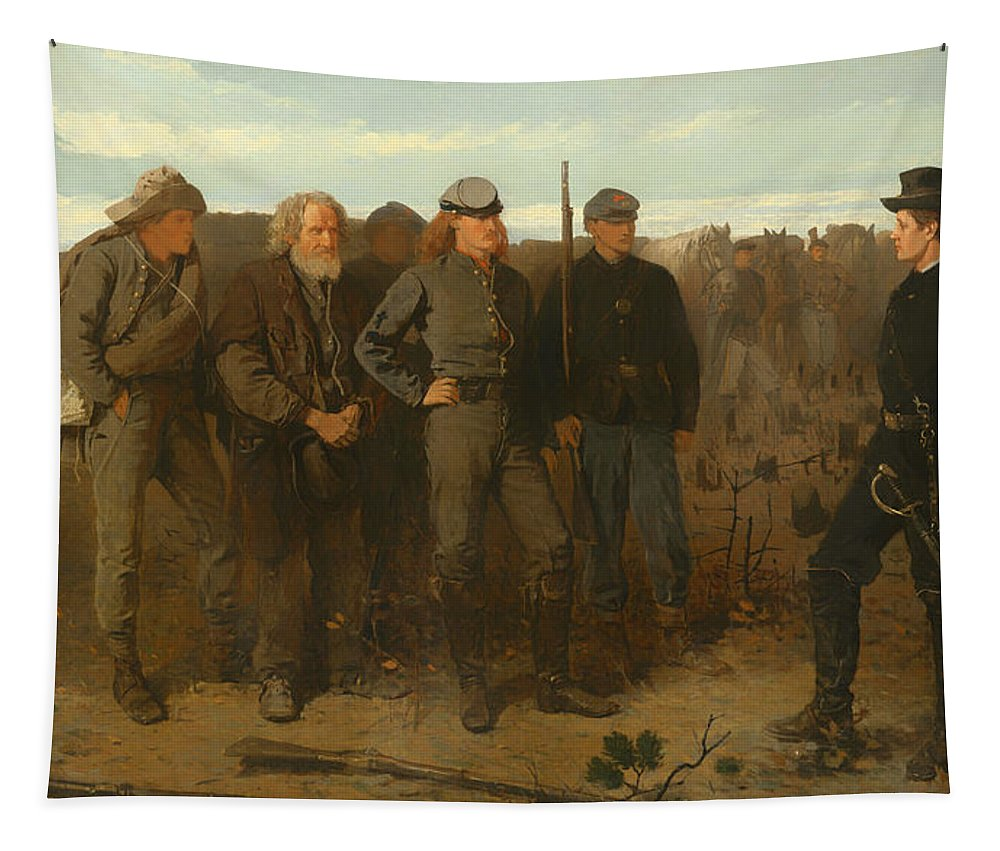 Painting Tapestry featuring the painting Prisoners From The Front by Mountain Dreams