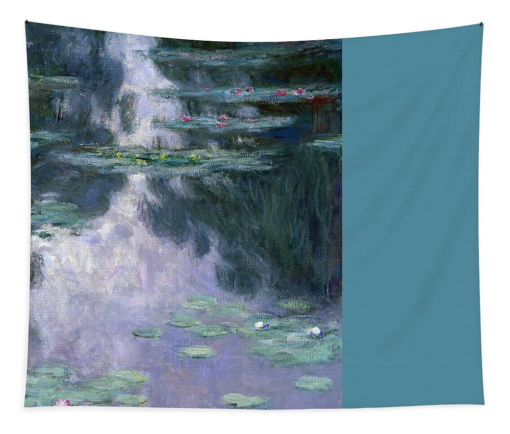 Nympheas Tapestry featuring the painting Waterlilies by Claude Monet