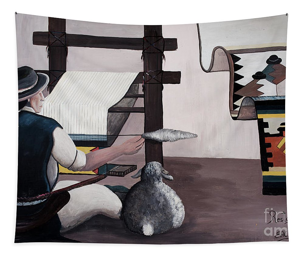 Ecuador Tapestry featuring the photograph Artisan Market La Mariscal In Quito by Ralf Broskvar