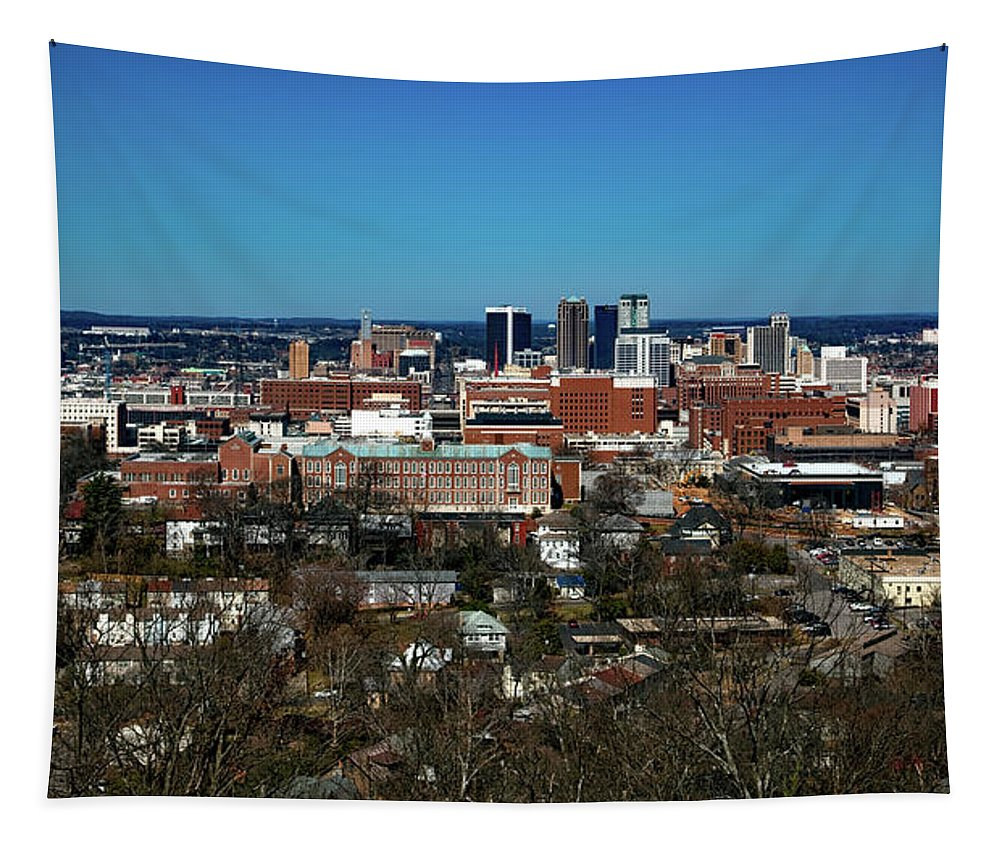 Birmingham Tapestry featuring the photograph Birmingham Alabama by Mountain Dreams