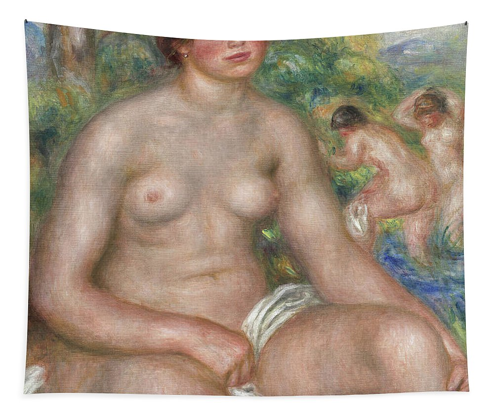 Renoir Tapestry featuring the painting Seated Bather by Pierre Auguste Renoir