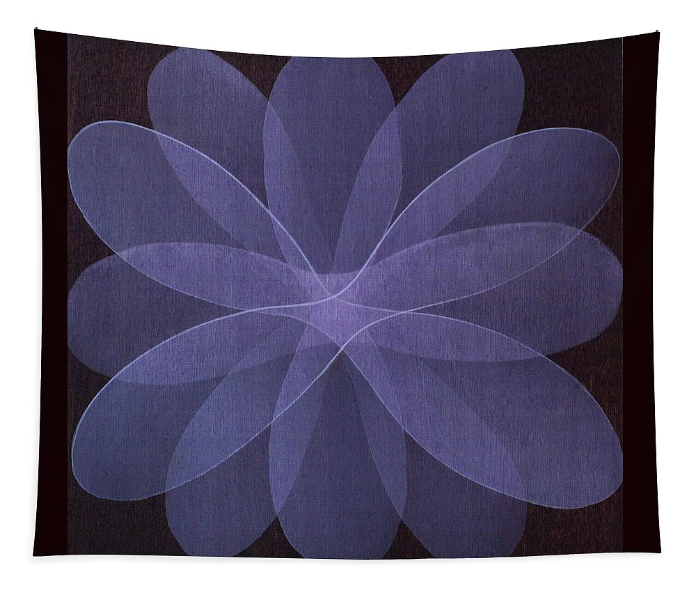 Abstract Tapestry featuring the painting Abstract flower by Jitka Anlaufova
