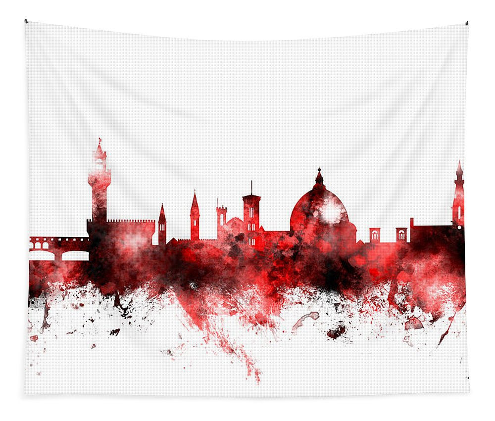 Italy Tapestry featuring the digital art Florence Italy Skyline by Michael Tompsett