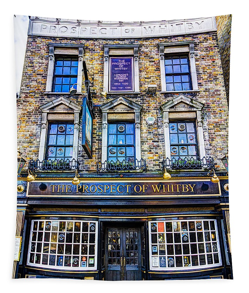 Prospect Of Whitby Pub Tapestry featuring the photograph The Prospect Of Whitby Pub London by David Pyatt