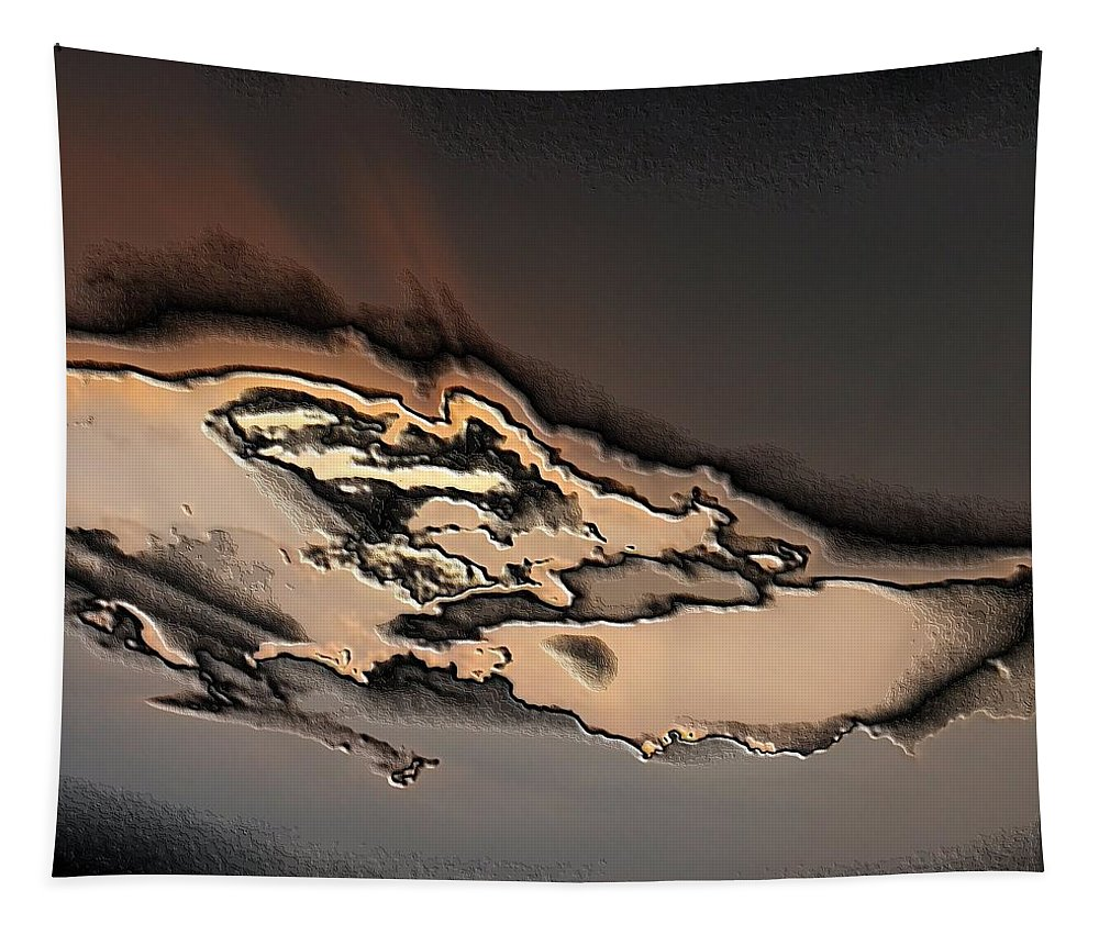 Digital Art Tapestry featuring the digital art Abstract by Belinda Cox