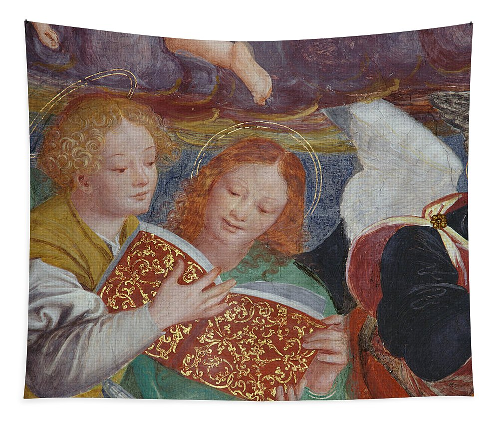 Angel Tapestry featuring the painting The Concert Of Angels by Gaudenzio Ferrari