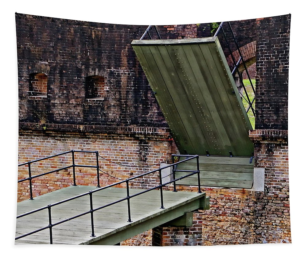 Pensacola Tapestry featuring the photograph Advanced Redoubt by Anthony Dezenzio