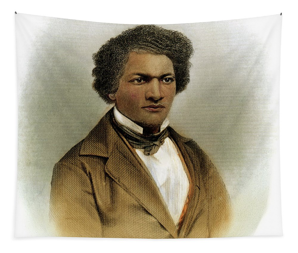 1854 Tapestry featuring the drawing Frederick Douglass by Granger