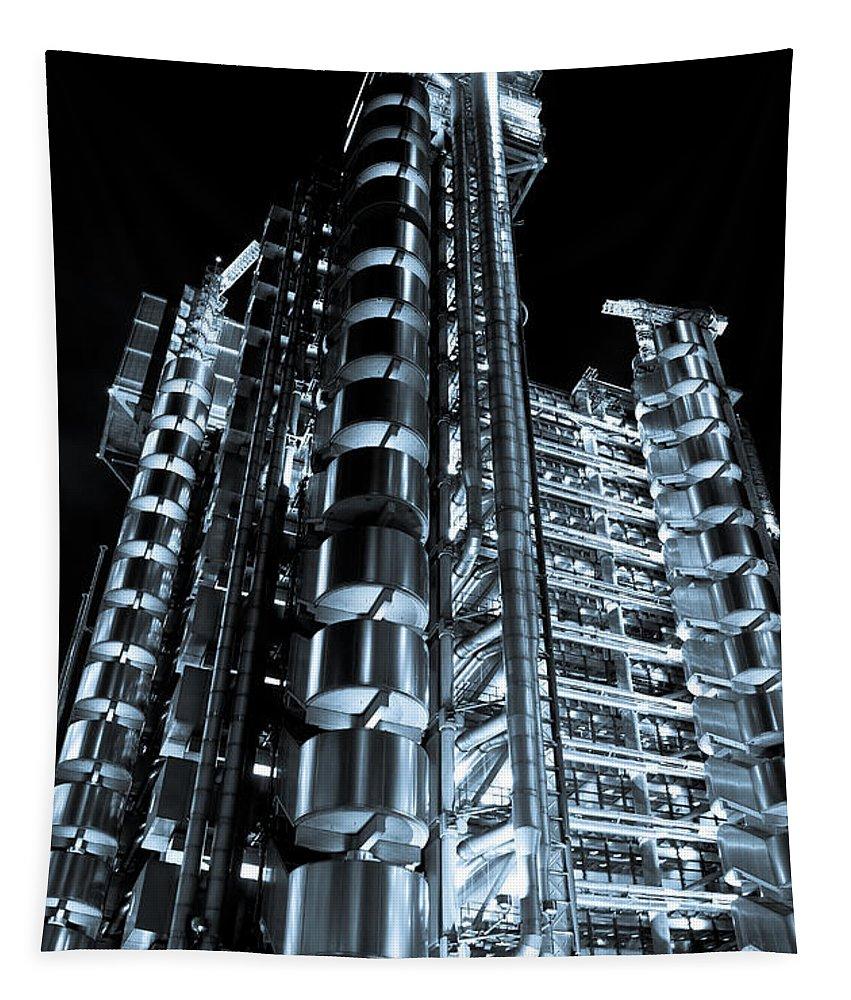 Lloyd's Tapestry featuring the photograph Lloyd's Building London by David Pyatt