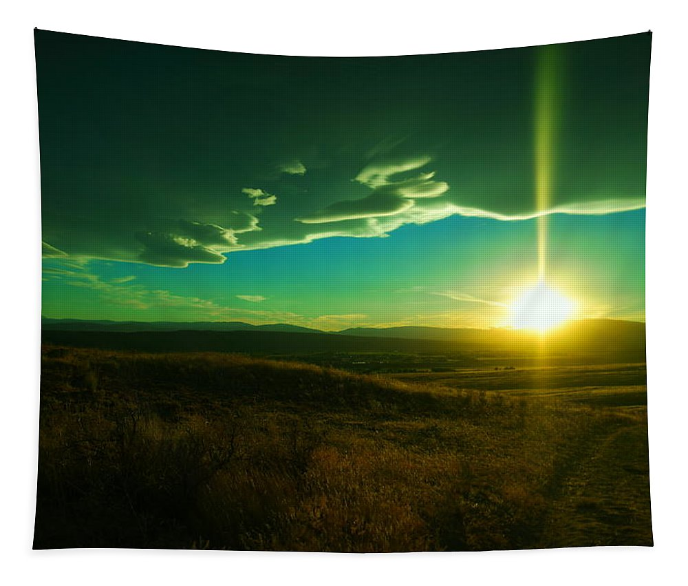Sunset Tapestry featuring the photograph A Beautiful Sunset by Jeff Swan