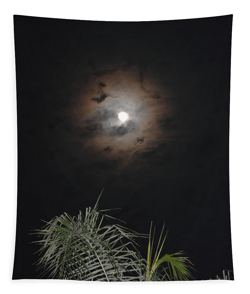 Moon Tapestry featuring the photograph A Break In The Clouds by Aimee L Maher ALM GALLERY