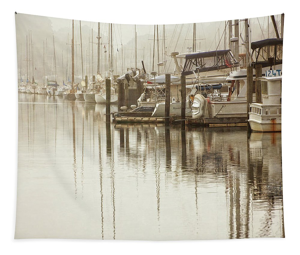 Coastal Tapestry featuring the mixed media A Canal View by Karol Livote