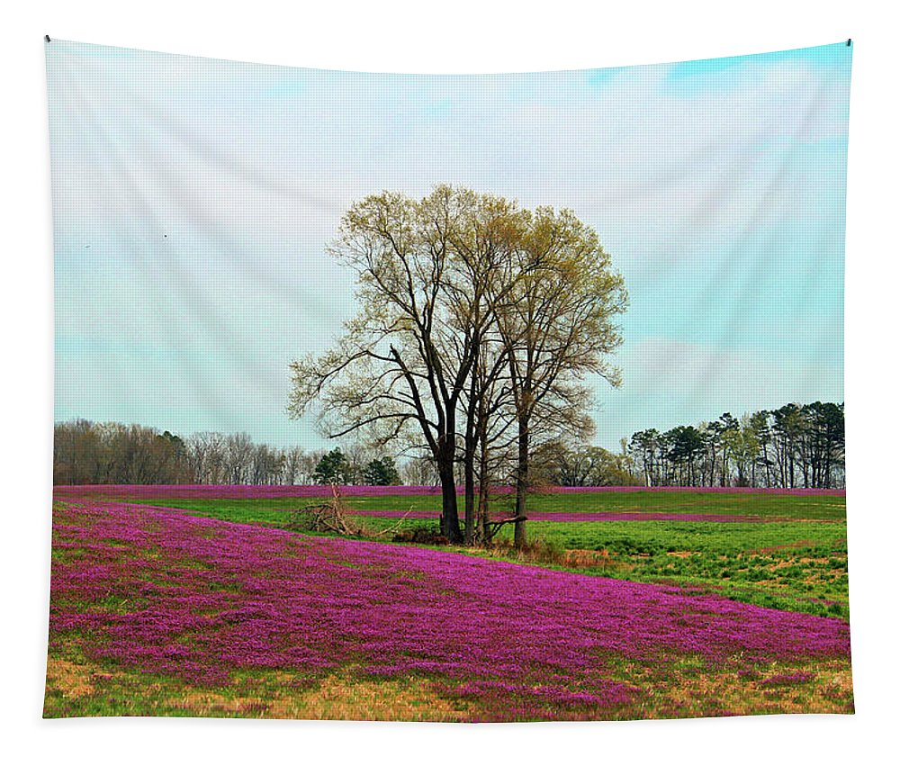 Tree Tapestry featuring the photograph A Colorful Field by Cynthia Guinn