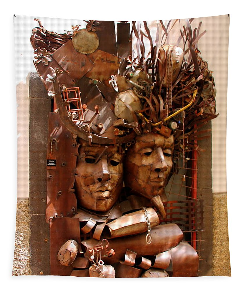 Metal Tapestry featuring the photograph A Creative Metalworks Door by Laurel Talabere