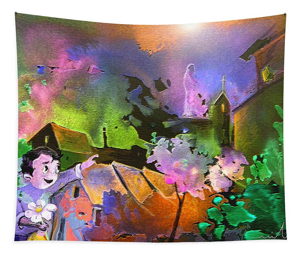 Dream Tapestry featuring the painting A Daisy For Mary by Miki De Goodaboom