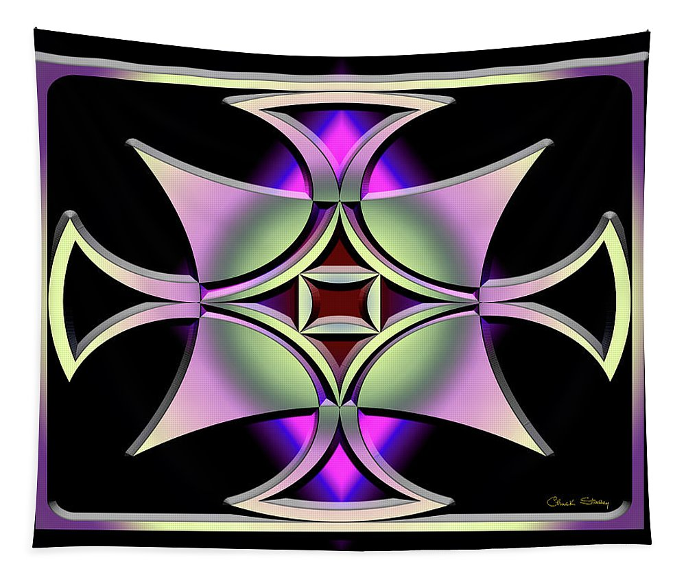Staley Tapestry featuring the digital art A Dark Splash Of Color 41 by Chuck Staley
