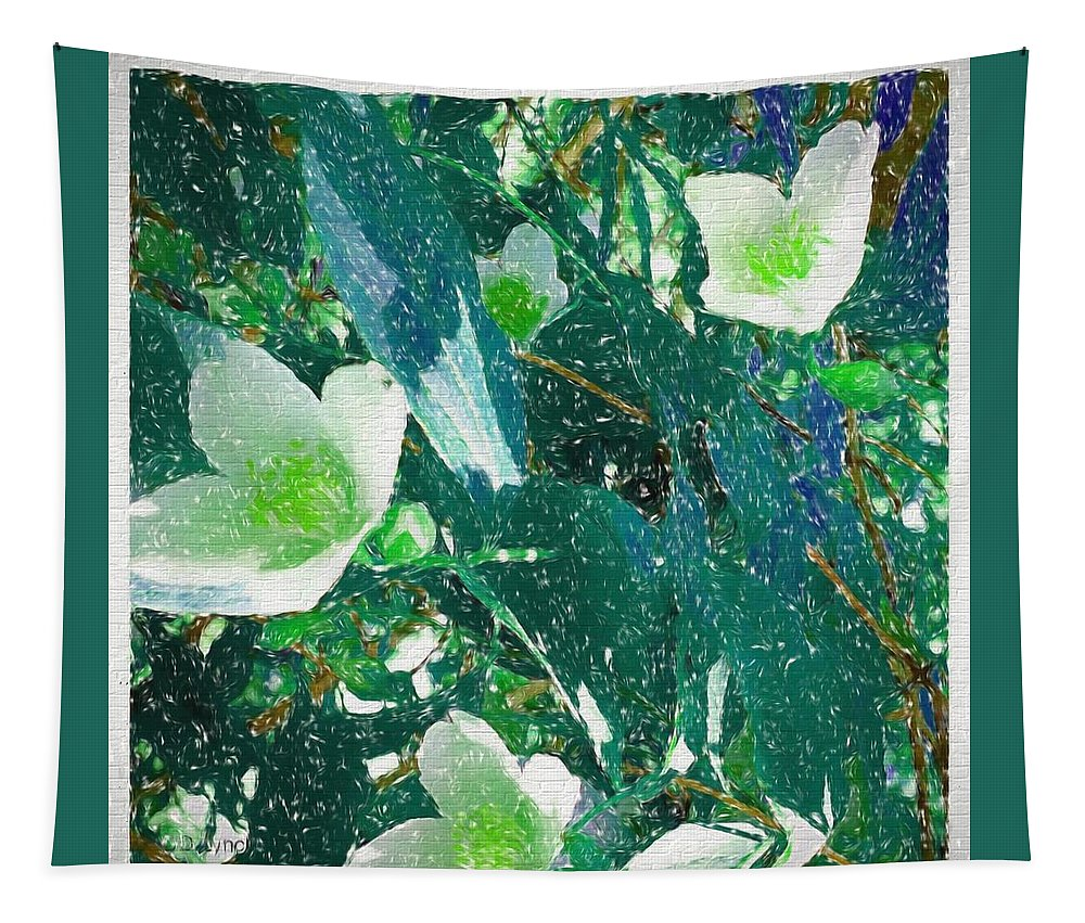 Wild Tapestry featuring the mixed media A Different Shade Of Blue by Debra Lynch