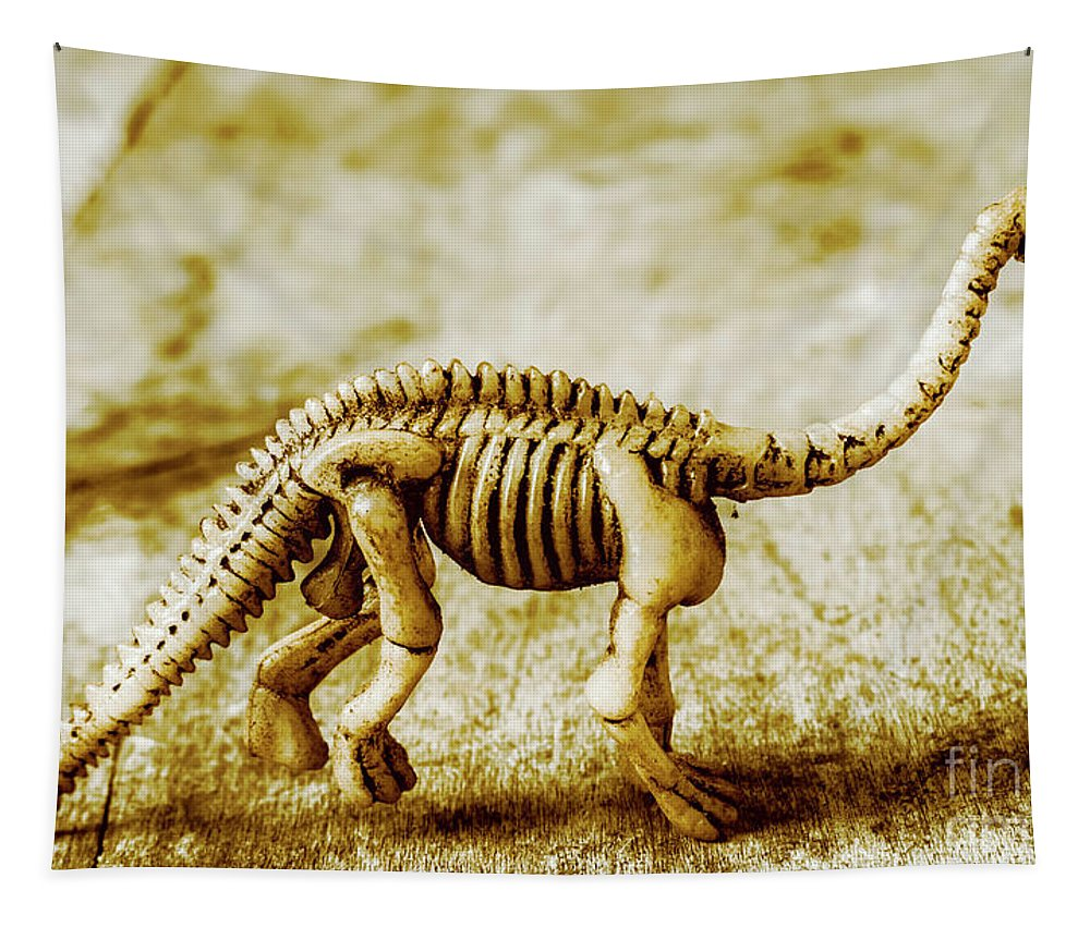 Bone Tapestry featuring the photograph A Diploducus Bone Display by Jorgo Photography - Wall Art Gallery
