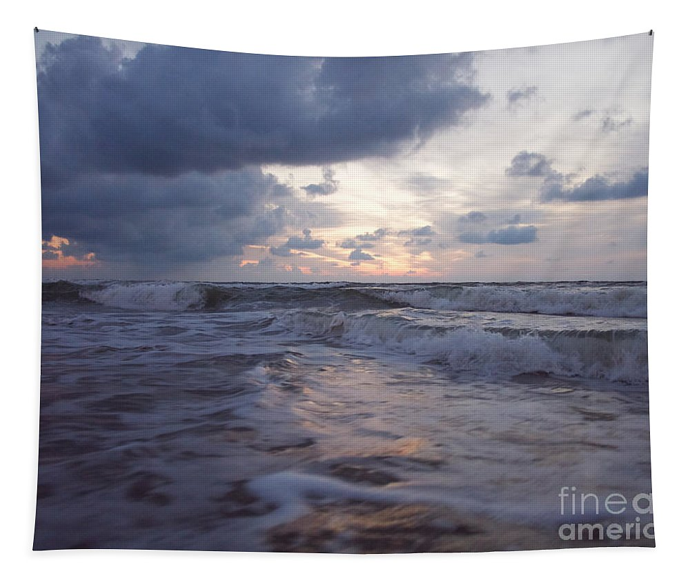 Landscape Tapestry featuring the photograph A Distant Light by Rachel Morrison