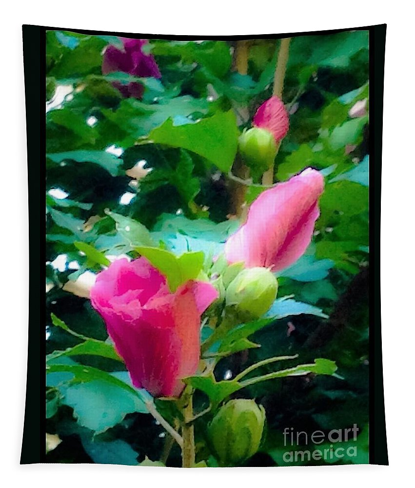 Floral. Flowers Tapestry featuring the photograph A Dream Of What Is by Debra Lynch