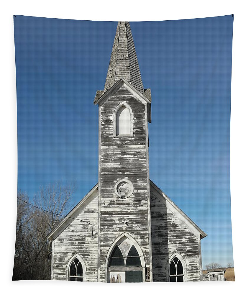 Church Tapestry featuring the photograph A Fading Angel by Jeff Swan