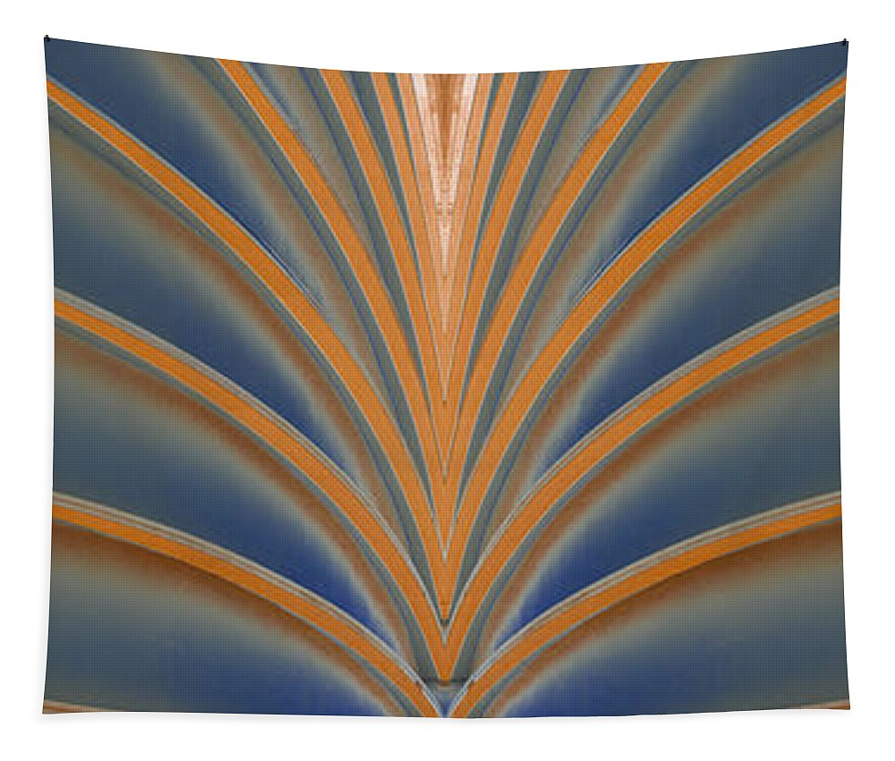 Wendy Tapestry featuring the digital art A Fan Of Art Deco by Wendy Wilton