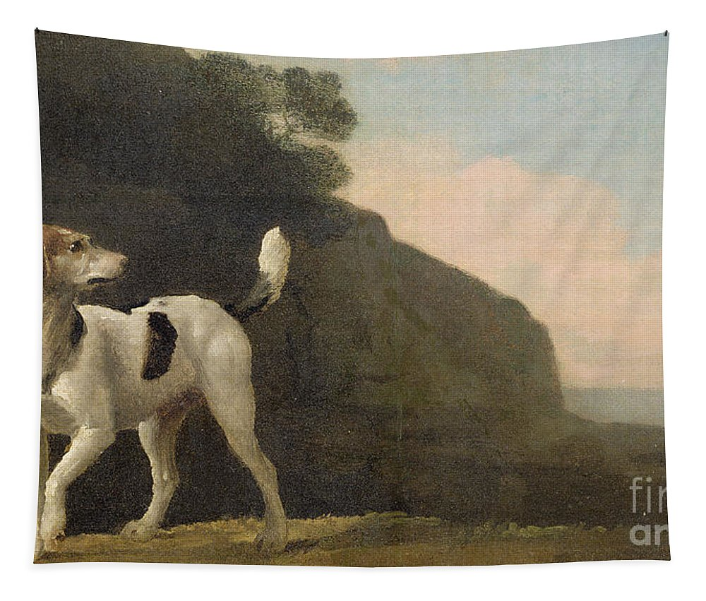 Foxhound Tapestry featuring the painting A Foxhound by George Stubbs