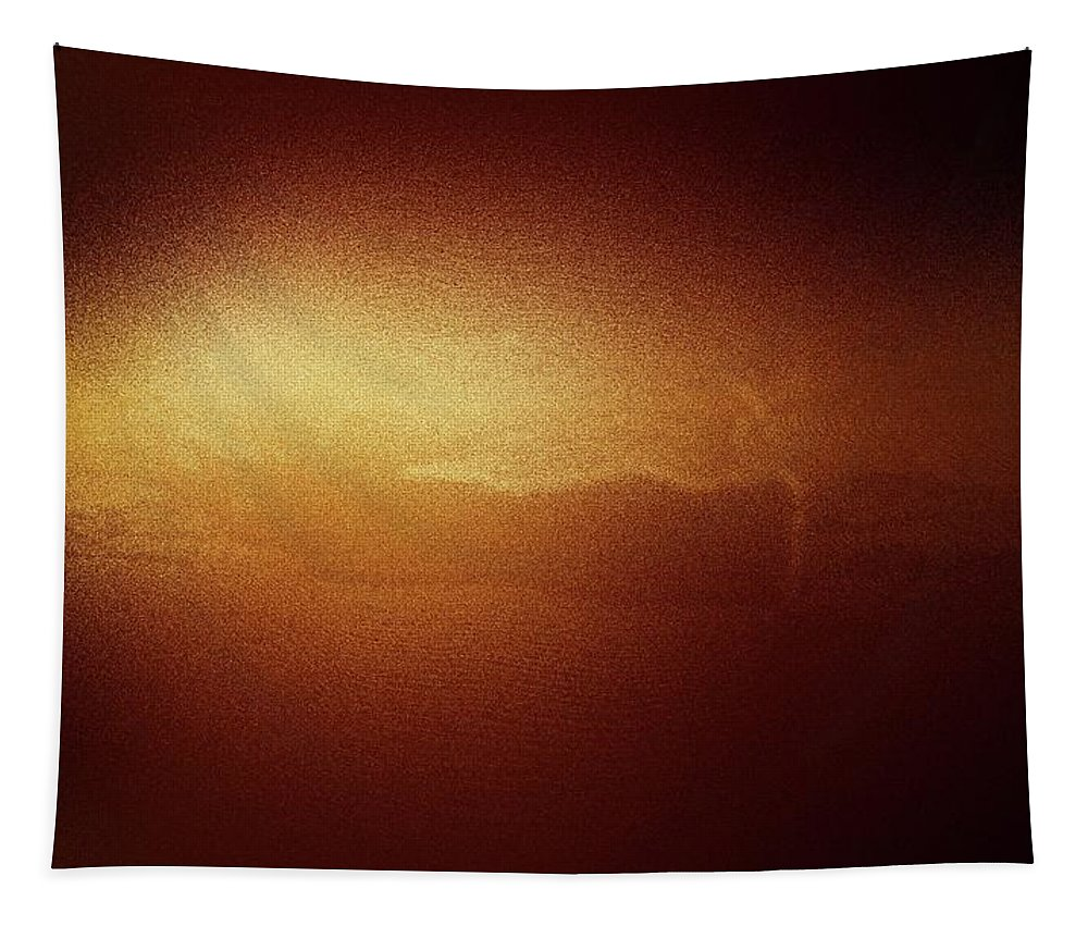 The Sun Tapestry featuring the photograph A Glow Of Sunrise by Jeff Swan
