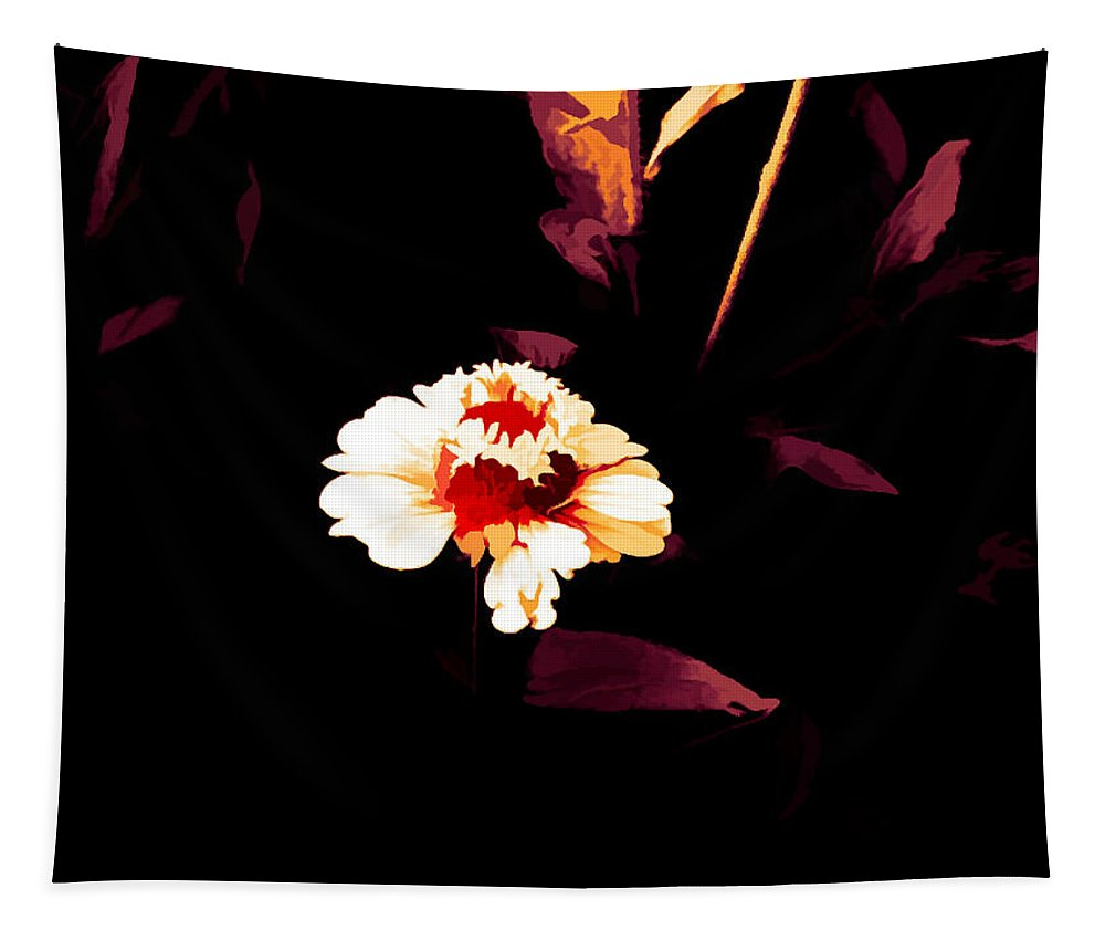 Marigold Tapestry featuring the mixed media A Little Marigold by Debra Lynch