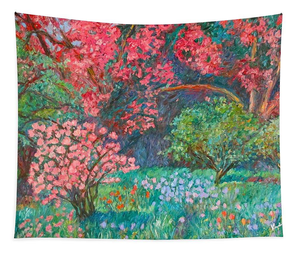 Landscape Tapestry featuring the painting A Memory by Kendall Kessler