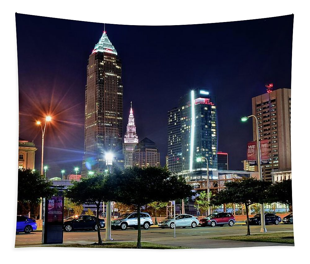 Cleveland Tapestry featuring the photograph A New View by Frozen in Time Fine Art Photography