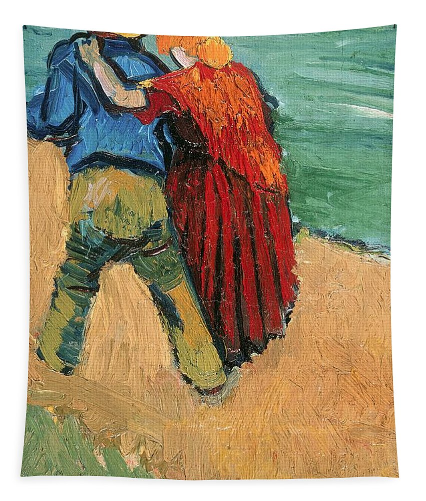 Pair Tapestry featuring the painting A Pair Of Lovers by Vincent Van Gogh