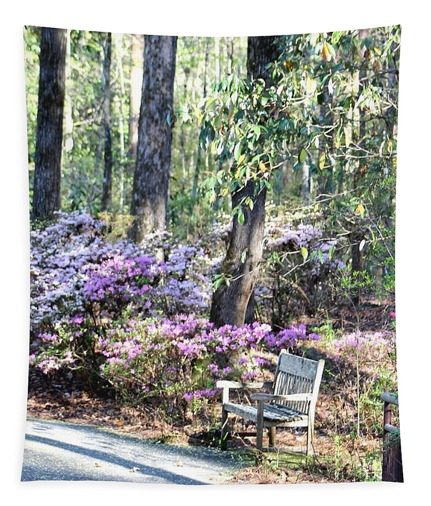 Gardens Tapestry featuring the photograph A Place To Rest by Gayle Miller