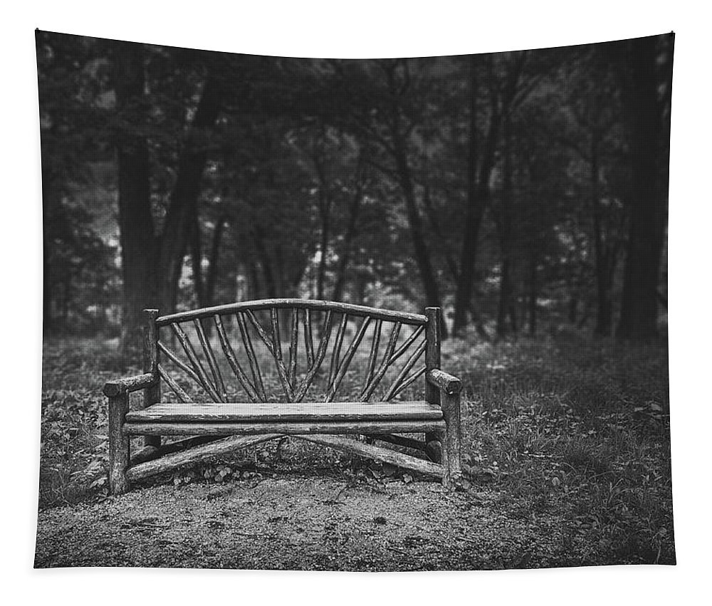 Wooden Bench Tapestry featuring the photograph A Place To Sit 6 by Scott Norris