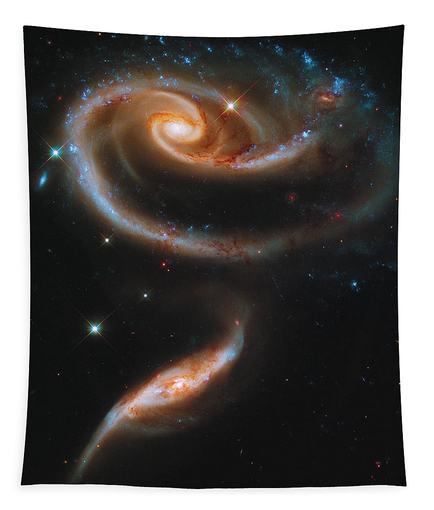 God Tapestry featuring the photograph A Rose Made Of Galaxies by Paul W Faust - Impressions of Light