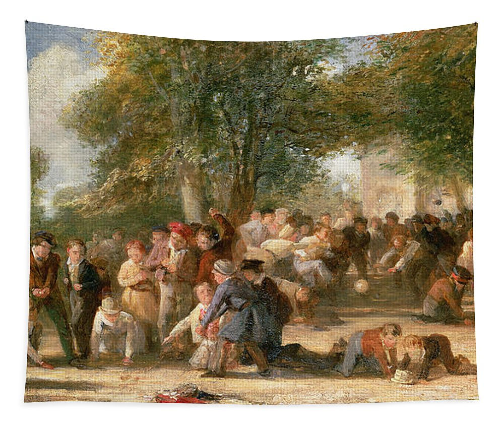 School Tapestry featuring the painting A School Playground by Thomas Webster