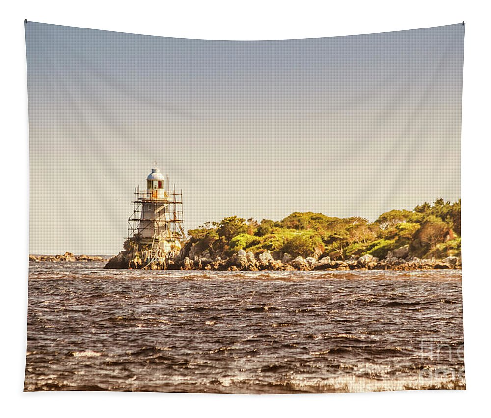 Light House Tapestry featuring the photograph A Seashore Construction by Jorgo Photography - Wall Art Gallery