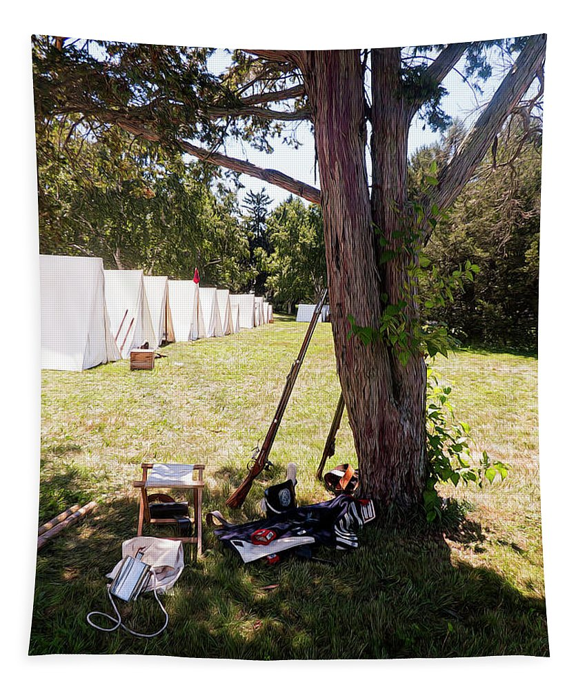 Uniform Tapestry featuring the digital art A Shady Retreat 1812 by Leslie Montgomery
