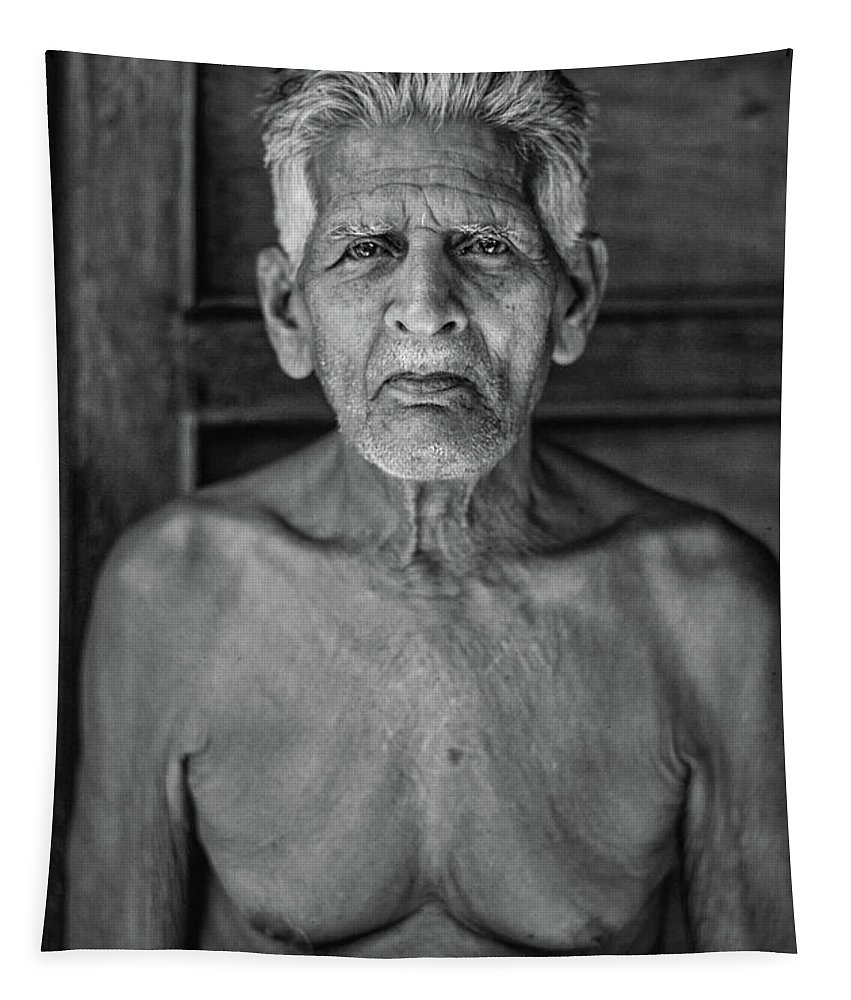 India Tapestry featuring the photograph A Silent Conversation Bw by Steve Harrington