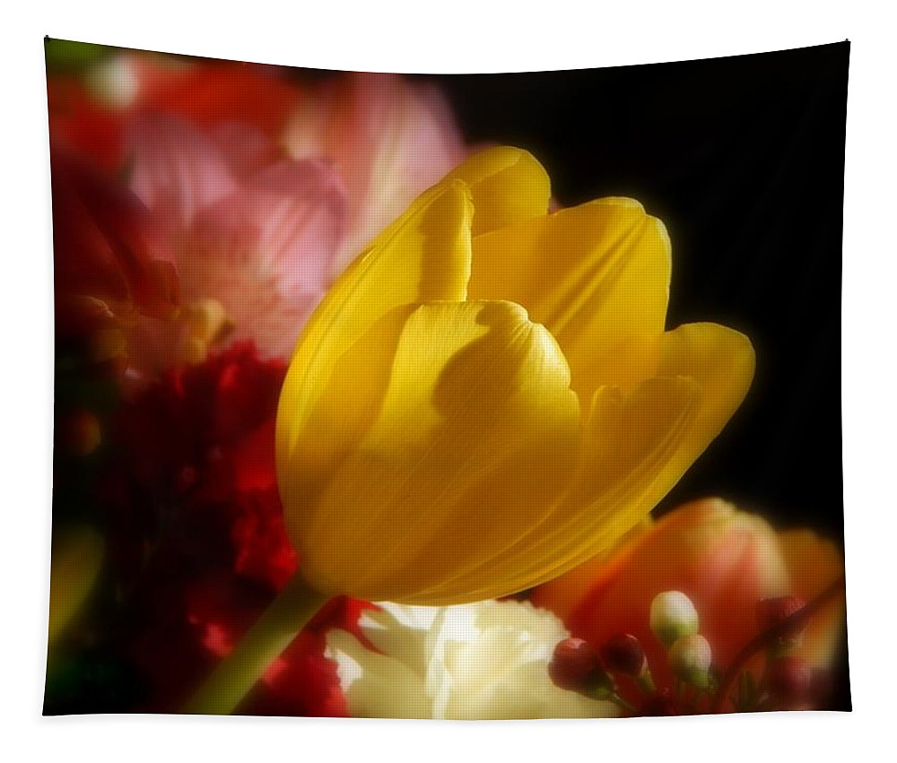 A Softer Shade Of Yellow Tapestry featuring the photograph A Softer Shade Of Yellow by Karen Cook