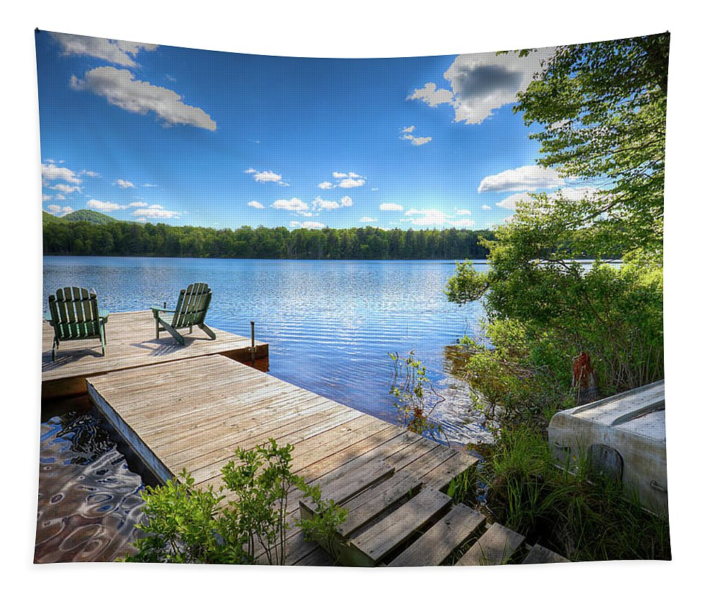 A Spring Day On West Lake Tapestry featuring the photograph A Spring Day On West Lake by David Patterson