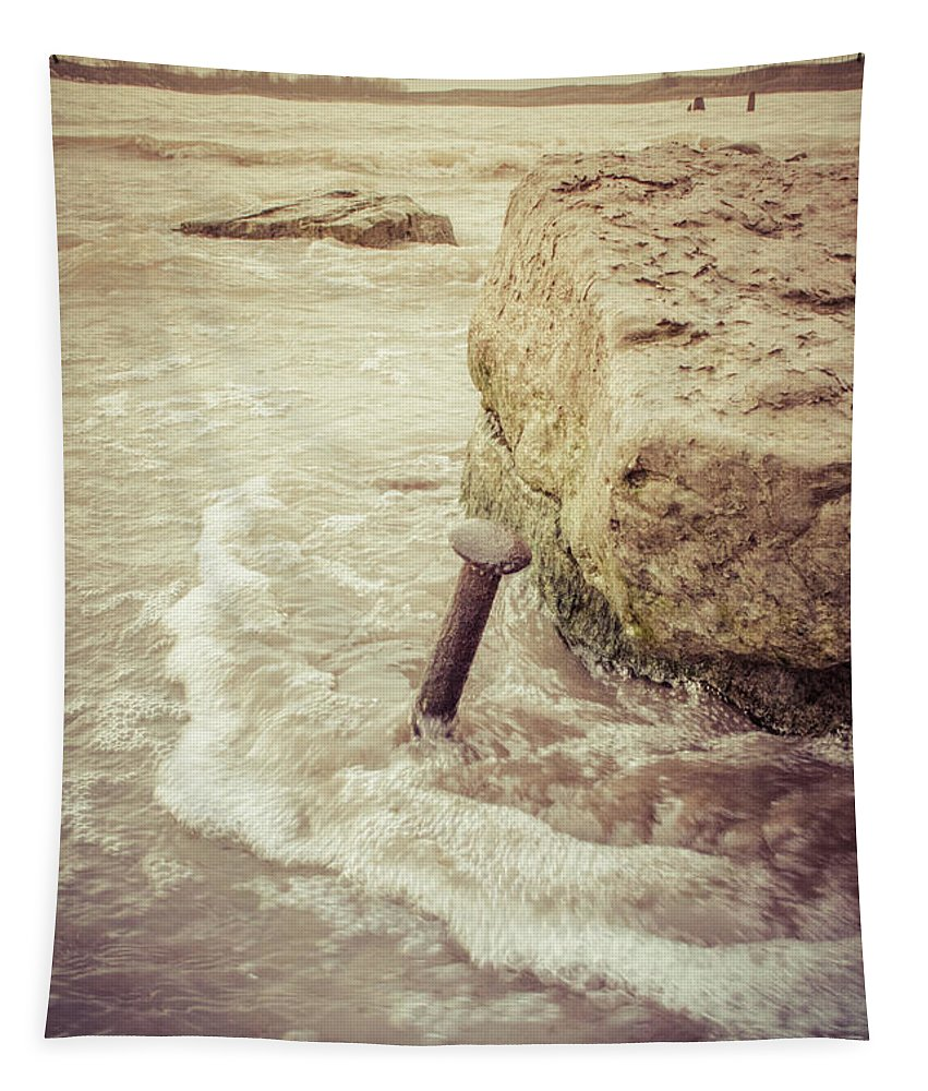 Beach Tapestry featuring the photograph A Stake In The Beach by Garvin Hunter