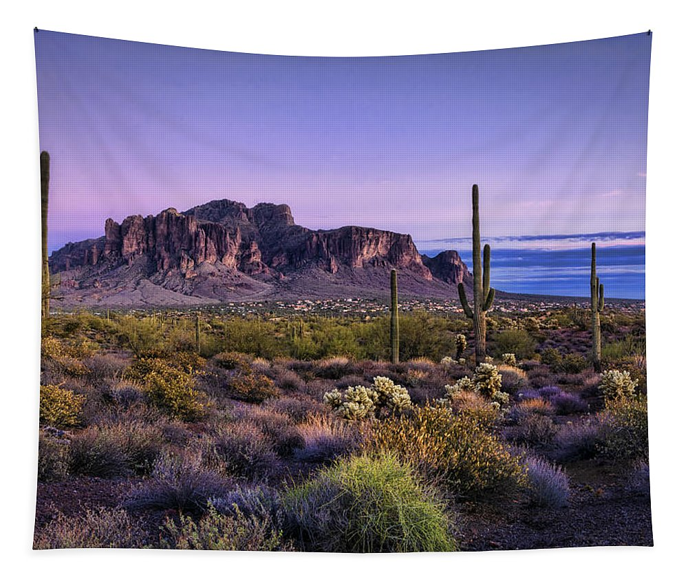 Sunset Tapestry featuring the photograph A Superstitious Evening by Saija Lehtonen