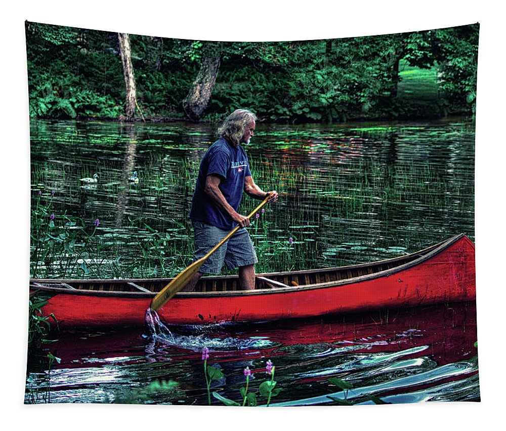 A True Adirondack Guide Tapestry featuring the photograph A True Adirondack Guide by David Patterson