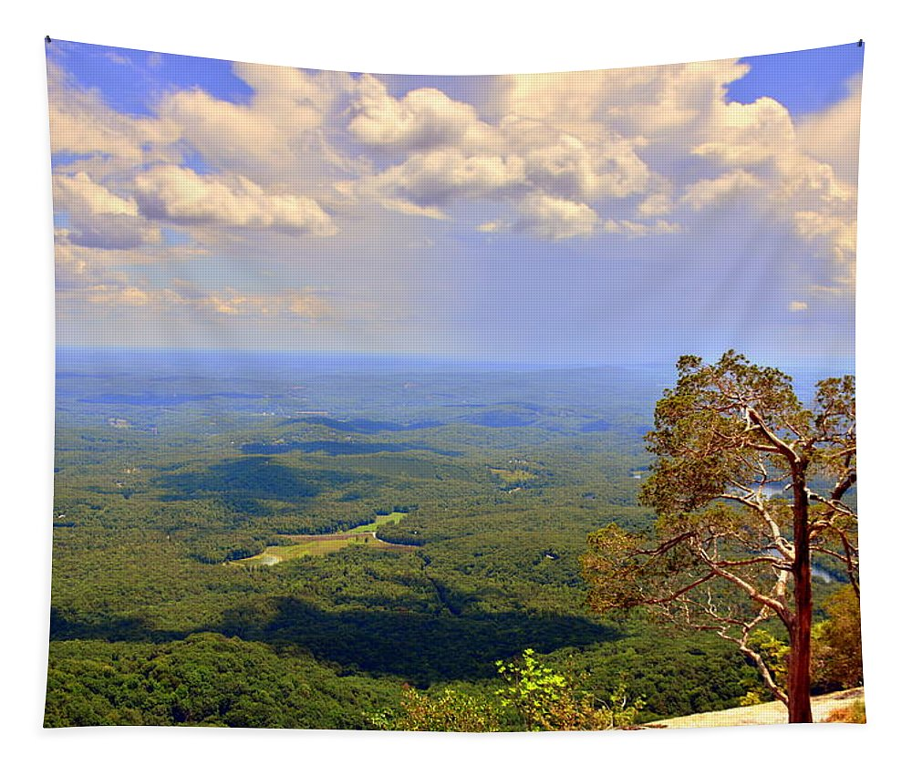 A View From Table Rock Tapestry featuring the photograph A View From Table Rock by Lisa Wooten