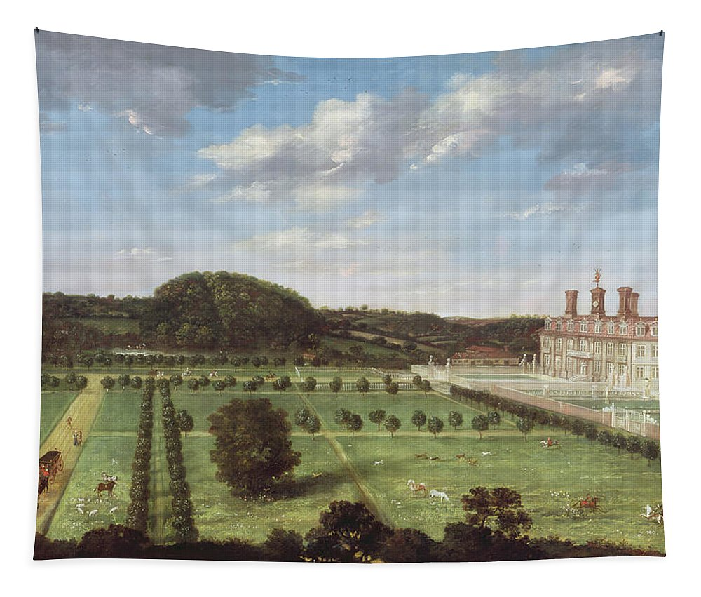 View Tapestry featuring the painting A View Of Bayhall - Pembury by Jan Siberechts