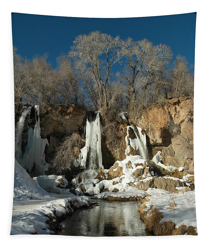Waterfalls Tapestry featuring the photograph A View Of Rifle Falls by Jeff Swan